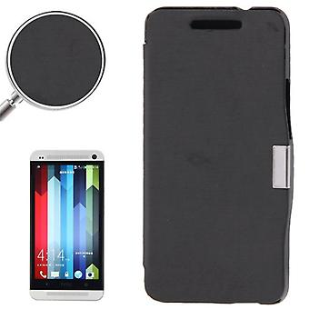 Cell phone cover case for HTC one / M7 black brushed