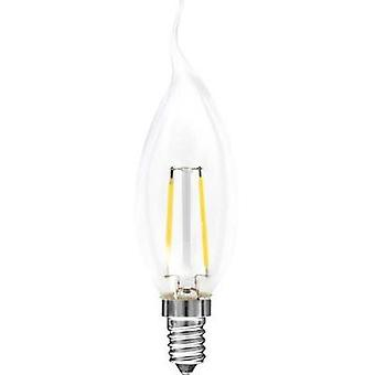 LED Müller Licht 230 V E14 2 W = 25 W Warm white EEC: A++ Candle angular (Ø x L) 35 mm x 120 mm Filament 1 pc(s)
