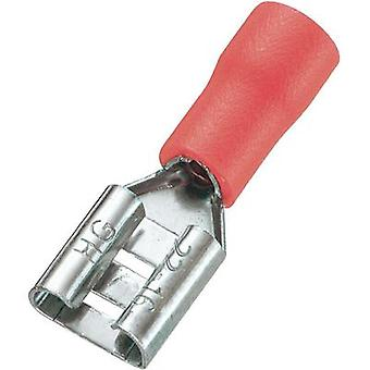 Blade receptacle Connector width: 6.4 mm Connector thickness: 0.8 mm 180 ° Partially insulated Red Conrad Components 93