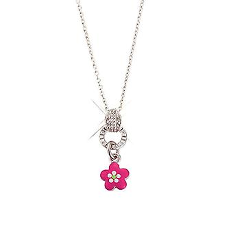 Scout children necklace chain Silver Flower pink girls girls 261066200