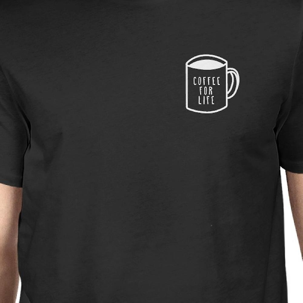 Kaffee für Leben Tasche schwarz Shirts lustige typografische Herrenabschlag