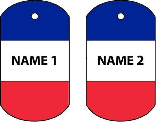 Personalised France Dog Tag Car Air Freshener