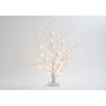 60cm Battery Operated White 32 LED Christmas Tree with Snow Effect Xmas Decoration