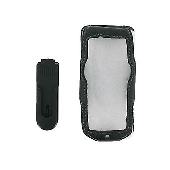 Unicel Leather Case with Swivel Bell Clip for Sony Ericsson W610 (Black)