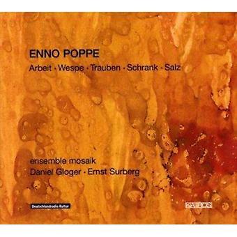 Poppe - Enno Poppe: Arbeit; Wespe; Trauben; Schrank & Salz [CD] USA importerer