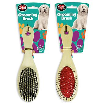 Grooming Brush Set Pet Dog Comb Bristle Hair Healthy Soft World of Pets Home
