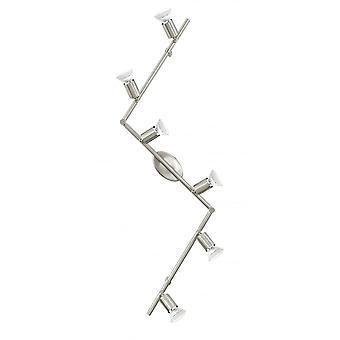 EGLO BUZZ 6 lampa Spotlight med justerbara Spot huvud och LED-lampor