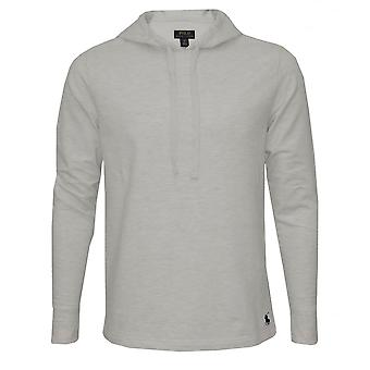 Polo Ralph Lauren Luxe Brushed Jersey Hoodie, Grey With Navy Polo Player