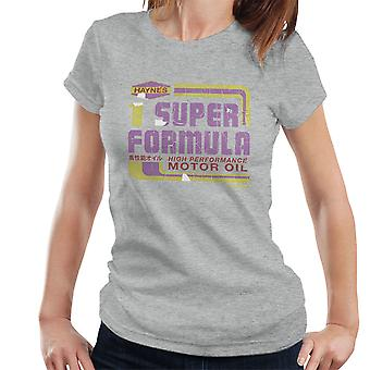 Haynes Super Formel Motoröl Damen T-Shirt