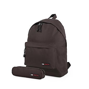 25332 rygsæk + carryall spil. Polyester. Polstret top håndtag og justerbare stropper. Lomme foran og dobbelte sømme. Carryall spil.