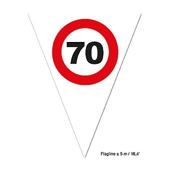 Party favors  Flagline 70 red traffic sign 5m
