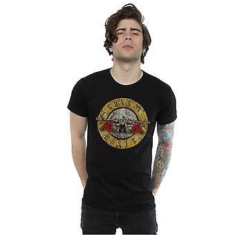 Guns N Roses mænds Vintage Bullet Logo T-Shirt