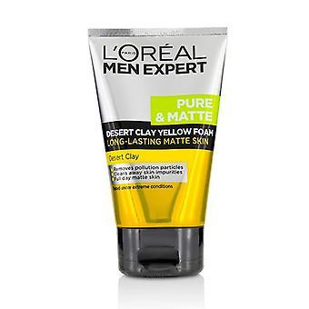 L'oreal Men Expert Pure & Matte Desert Clay Yellow Foam - 100ml/3.3oz