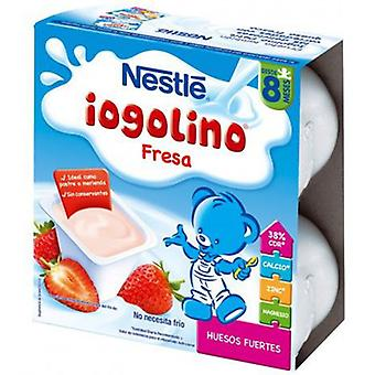Nestlé Iogolino Strawberry 4 Units (Childhood , Healthy diet , Desserts And Snacks)