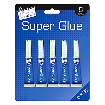 Just Stationery 3g Tube Super Glue (Pack Of 5)