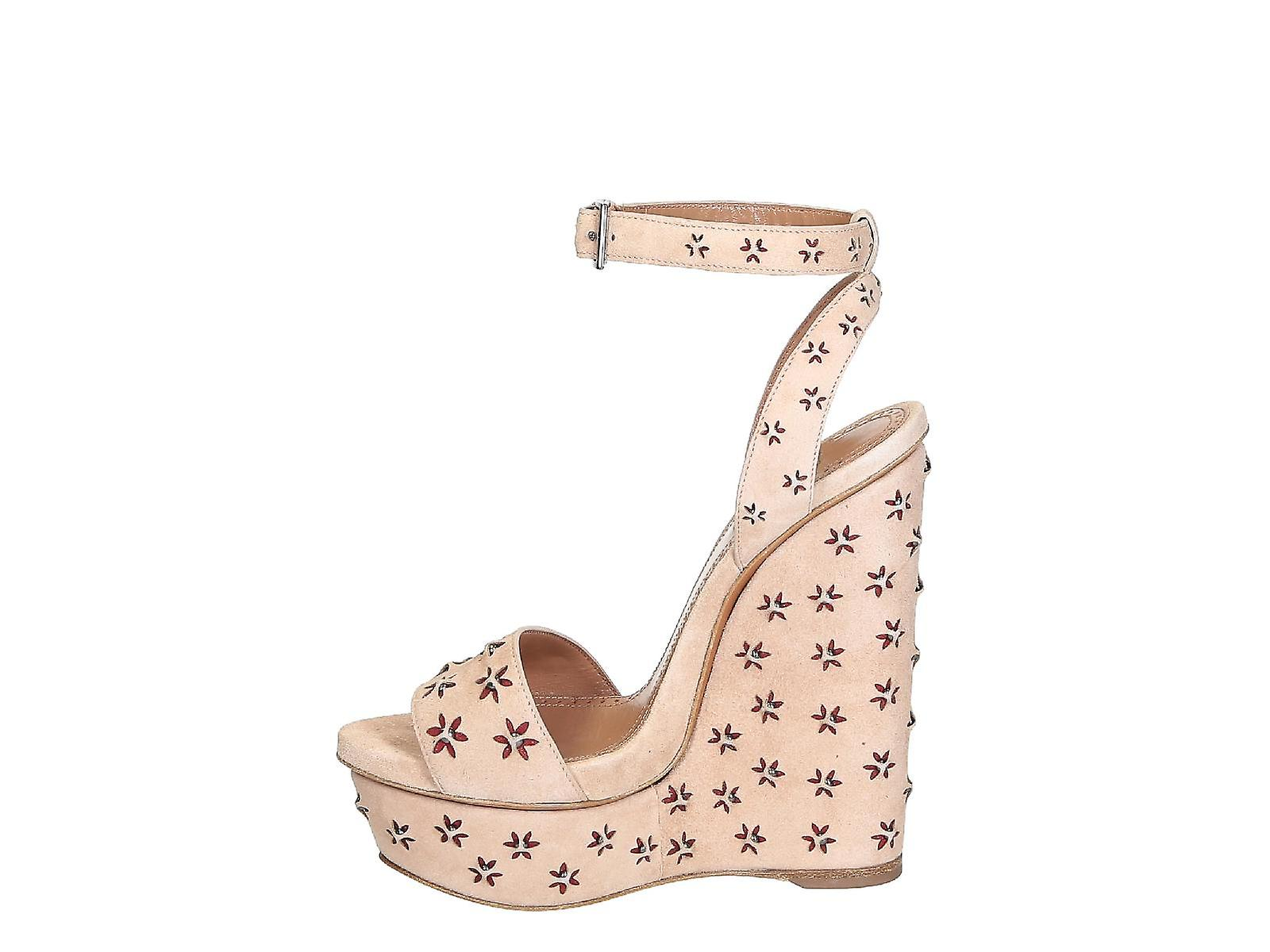 leather sandals Nude in Suede wedges Alaïa pA0waa