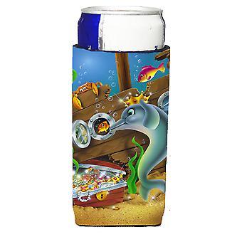 Дельфины сокровище грудь Michelob Ultra напиток изолятор для банок, тонкий