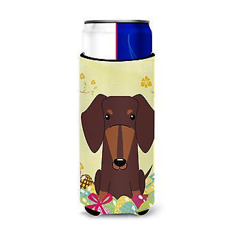 Easter Eggs Dachshund Chocolate Michelob Ultra Hugger for slim cans