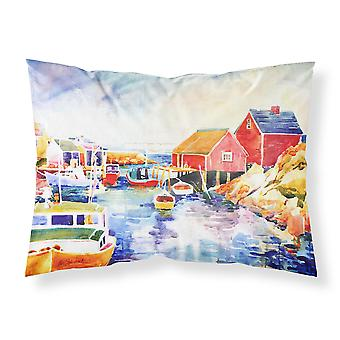 Boats at Harbour with a view Moisture wicking Fabric standard pillowcase
