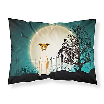 Halloween Scary Whippet Fabric Standard Pillowcase