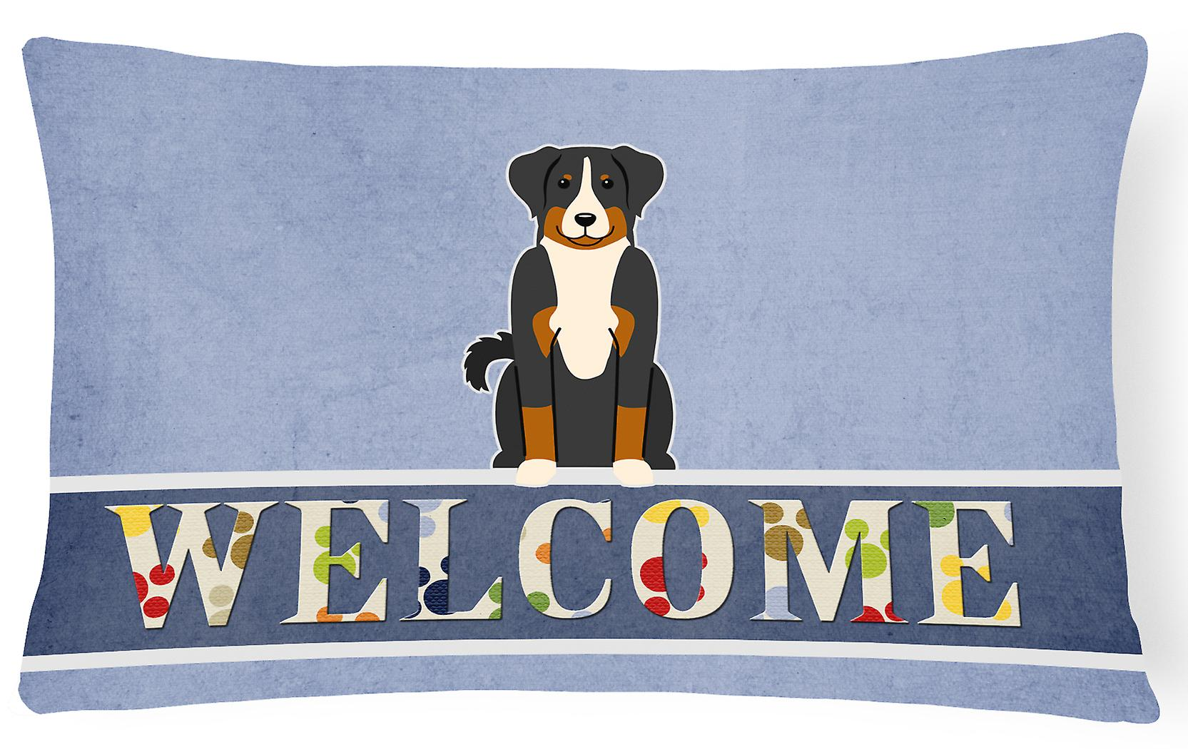 Appenzeller Toile Bienvenue Tissu Sennenhund Oreiller Décoratif H2ED9I