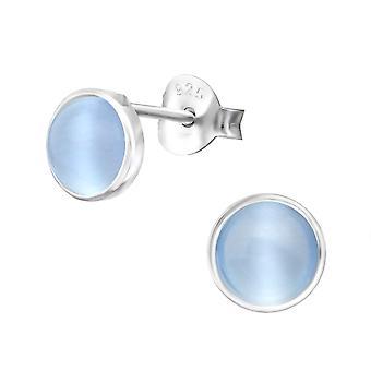 Round - 925 Sterling Silver Plain Ear Studs - W30284x