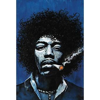 Jimi Hendrix Spliff Painting Spliff painting Poster Poster Print