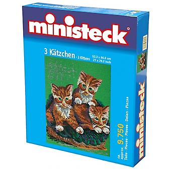Ministeck-three cats – 9750st-Mosaic stones