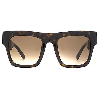 Stella McCartney Chunky Falabella Sunglasses In Havana Gold