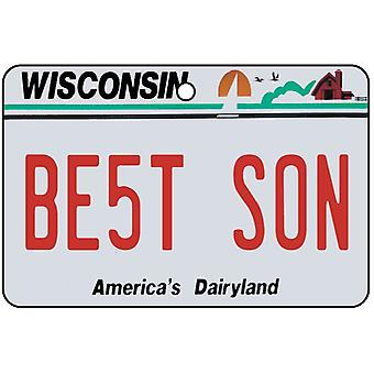 Wisconsin - Best Son License Plate Car Air Freshener