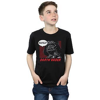 Star Wars Boys Darth Vader Dark Side Pop Art T-Shirt