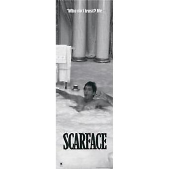 Scarface - Tub B&W Poster Poster Print