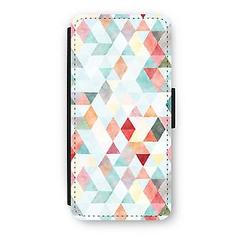 iPhone 5C Flip Case - triangoli colorati pastello