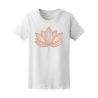 Metálico rosa folha de ouro Lotus Tee feminino-imagem por Shutterstock