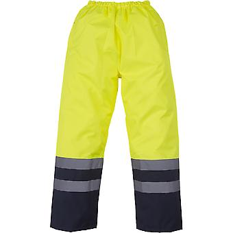 Yoko Mens High Vis Waterproof Overtrousers