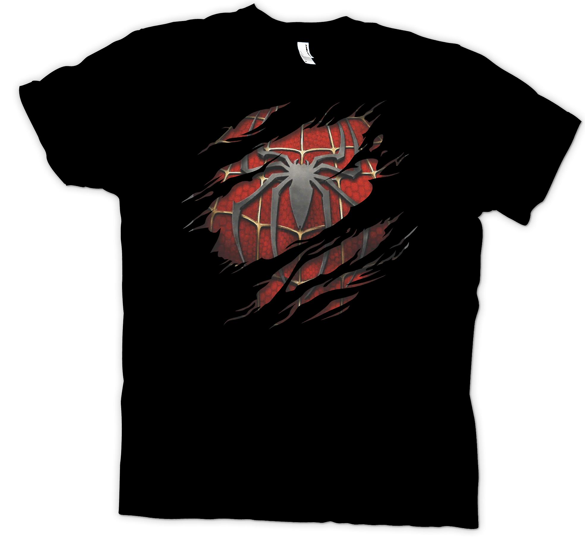 Womens T-shirt - Spiderman Under skjorta effekt - Action superhjälte