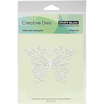 Penny Black Creative Dies-Floral Butterfly, 3.7