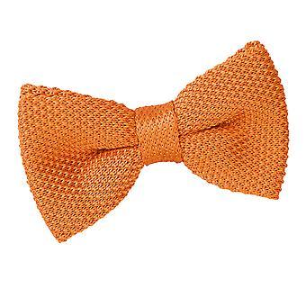 Tangerine Knit gebreide vooraf gebonden vlinderdas