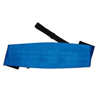 Electric Blue Plain Satin Cummerbund