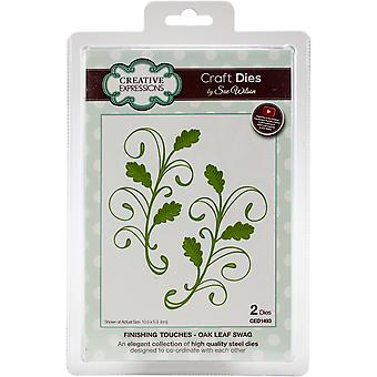 Creative Expressions Craft Dies By Sue Wilson-Finishing Touches-Oak Leaf Swag