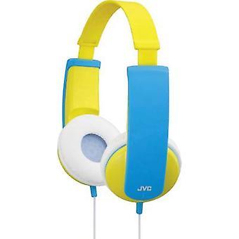 Limitador de volumen sobre la oreja auriculares de JVC HA-KD5-Y-E hijos, diadema ligero amarillo, azul