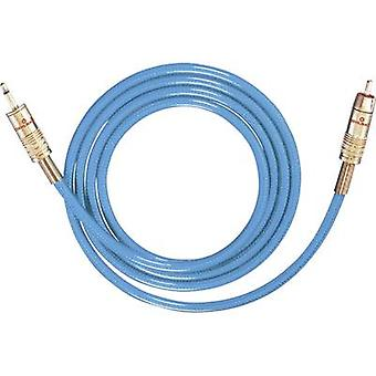 Oehlbach RCA / Jack Audio/phono kabel [1 RCA plugg (phono) - 1 x uttag plugg 3,5 mm] 5 m blå guldpläterade kontakter