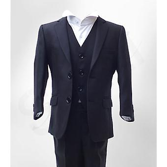 Boys Formal 3 Pc Pageboy Wedding Prom Suit In Navy Age 6 Mth To 15 Yrs