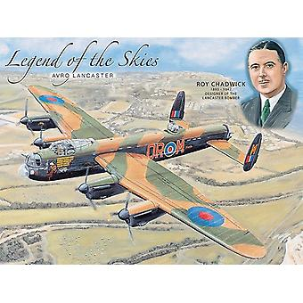Legend Of The Skies Avro Lancaster Metal Sign 200Mm X 150Mm