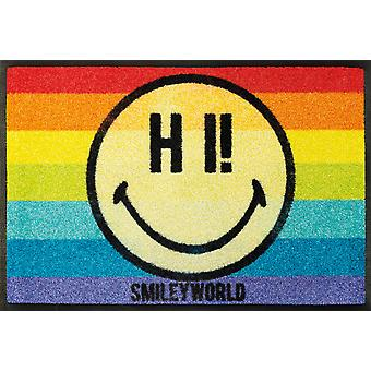 lavar + secar alfombra lavable de Rainbow smiley mat