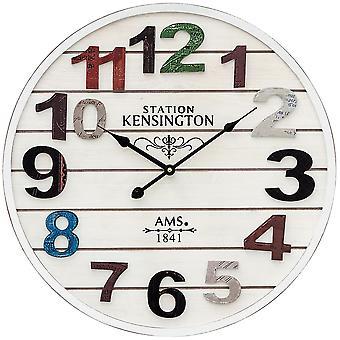 AMS 9538 væg ur kvarts analog kender antik vintage retro lurvet