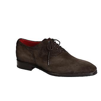Lacets chaussures en daim marron foncé