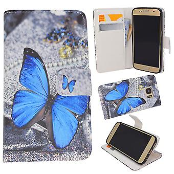 Samsung Galaxy A5 2016-Case/wallet Leather-Butterfly