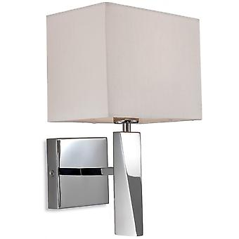 Firstlight Mansion Wall Light In Polished Chrome With Cream Shade