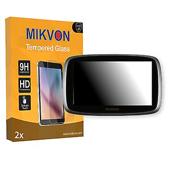 TomTom Go 5100 World Screen Protector - Mikvon flexible Tempered Glass 9H (Retail Package with accessories)